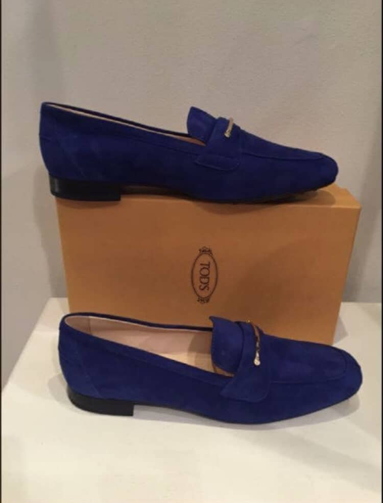 Tods Blue Suede Shoes (New) - TBD